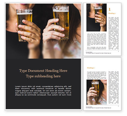 People: Beer Party Word Template #15663