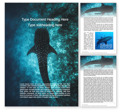 Nature & Environment: Whale Shark Word Template #15666