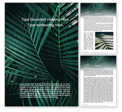 Nature & Environment: Palm Leaves Word Template #15667