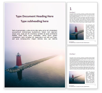 Nature & Environment: Manistique East Breakwater Light Word Template #15670