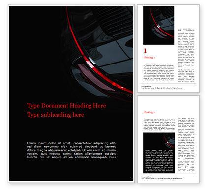 Cars/Transportation: Teil eines schwarzen autos Word Vorlage #15688