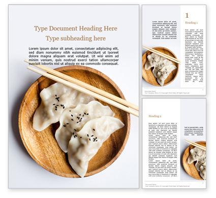 Food & Beverage: Japanese Gyoza Dumplings Word Template #15701