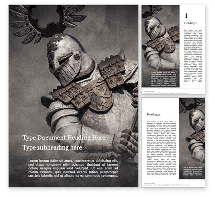 Military: Medieval Armor Word Template #15706