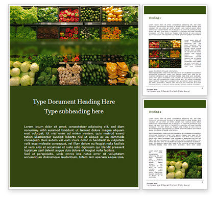 Food & Beverage: Vegetable Shop Word Template #15714