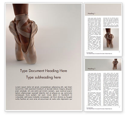 Art & Entertainment: Person in Ballet Shoes Word Template #15723