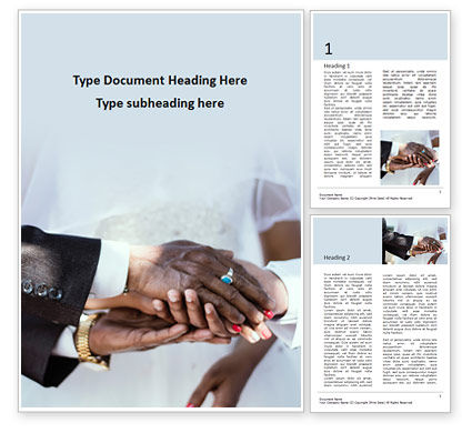 Holiday/Special Occasion: Closeup Photo of Hands on Wedding Ceremony Word Template #15728