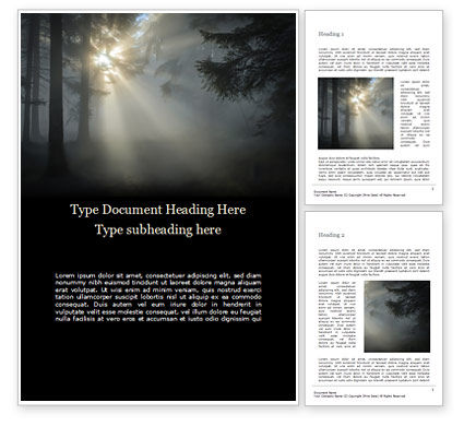 Nature & Environment: Sunrise in the Deep Forest Word Template #15735