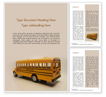 Education & Training: Speelgoed Schoolbus Gratis Word Template #15736
