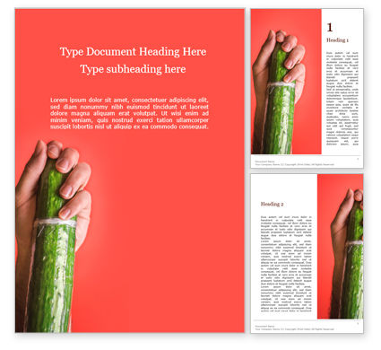 Medical: Cucumber in a Man Hand Word Template #15737