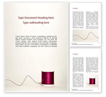 Careers/Industry: Reel with Burgundy Silk Thread Word Template #15752