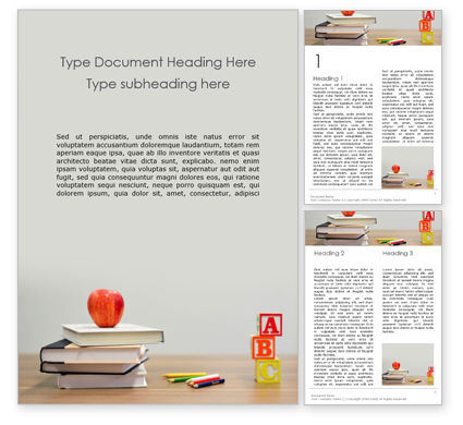 Education & Training: Basisschool Concept Gratis Word Template #15762