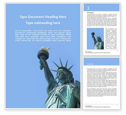 America: 自由女神像在纽约城免费Word模板 #15776