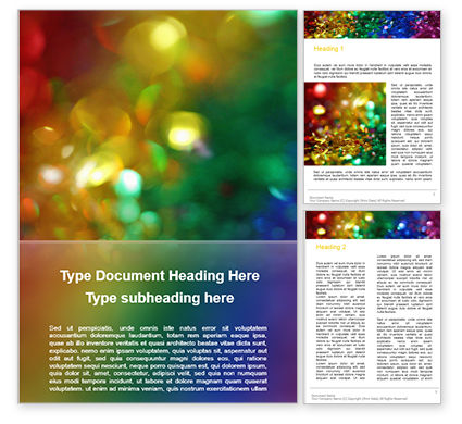 Art & Entertainment: Modello Word Gratis - Glitter arcobaleno stravagante e colorato #15784