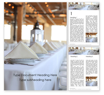 Careers/Industry: Long Table Served for Banquet Word Template #15790
