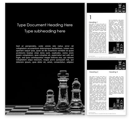 Business Concepts: Transparent Chess Pieces Word Template #15791