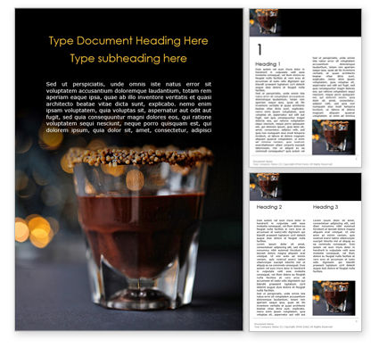 Food & Beverage: Sweet Chocolate Dessert in a Glass Word Template #15792