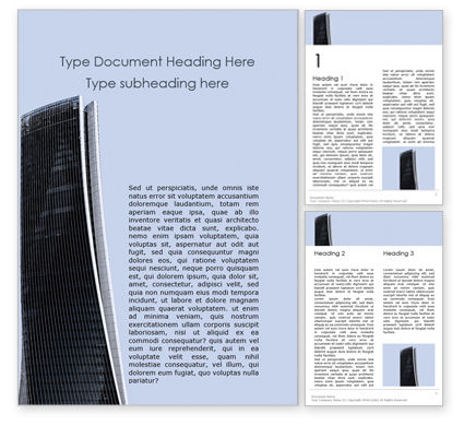 Construction: High-rise Building Word Template #15804