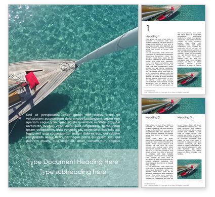 Sports: Modèle Word gratuit de voilier d'en haut #15823