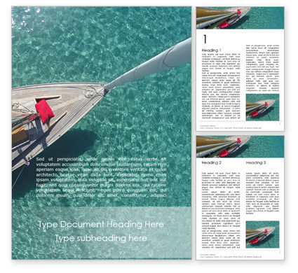 Sports: Plantilla de Word gratis - velero desde arriba #15823