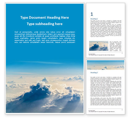 Nature & Environment: Clouds in the Sky Word Template #15829