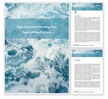 3D: Ocean Foam Word Template #15833