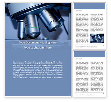 Technology, Science & Computers: Microscope Slide Research Word Template #15835