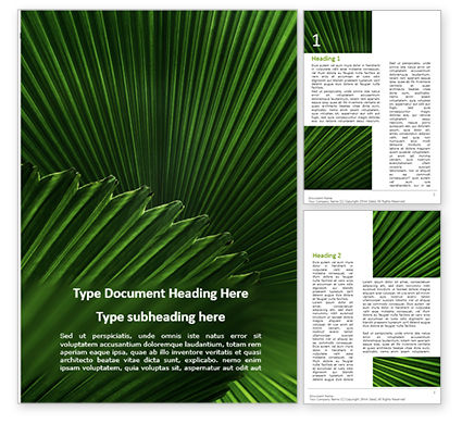 Nature & Environment: Leaves of the Fan Palm Word Template #15837