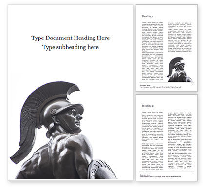 Art & Entertainment: Trojan Warrior Statue Word Template #15845