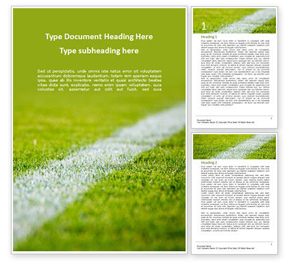 Sports: Green Field for Sport Games Word Template #15851