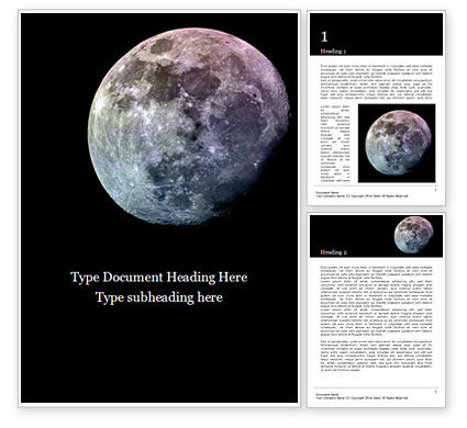 Nature & Environment: Natural Satellite of the Earth Word Template #15852
