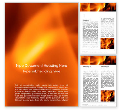 Abstract/Textures: Abstract Fire Background with Flames Word Template #15855