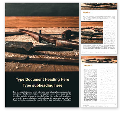 Careers/Industry: Timber Framing Tools Word Template #15865