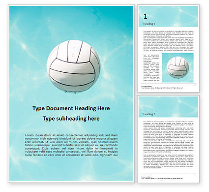 Sports: White Ball on Water Surface in Blue Pool Word Template #15885