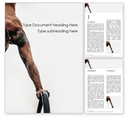 Sports: Athlete Doing Exercise Word Template #15889
