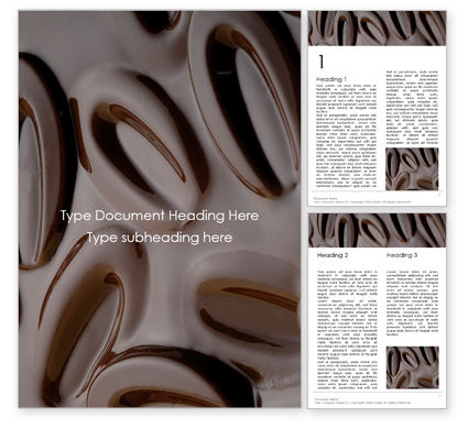 Food & Beverage: Smeltende Chocolade Gratis Word Template #15894