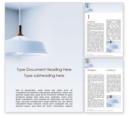 Careers/Industry: Chandelier with White Lampshade Word Template #15896