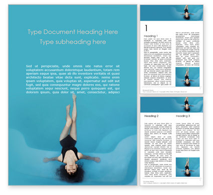 People: Woman Floating in a Pool Word Template #15904