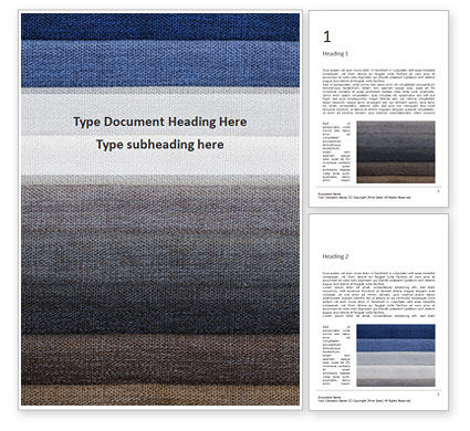 Careers/Industry: Layers of Different Fabrics with Different Colors Word Template #15929