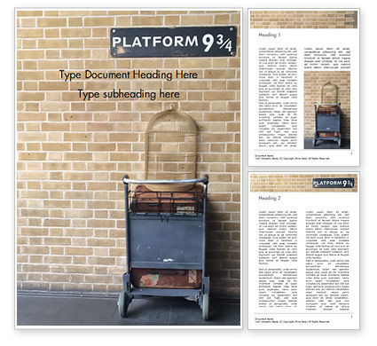 Education & Training: Platform Nine and Three Quarters Word Template #15930