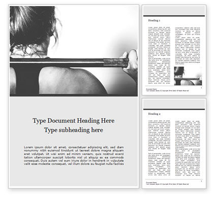Sports: Strong Woman Word Template #15949