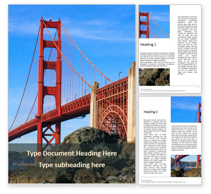 Construction: Golden Gate Bridge Word Template #15952