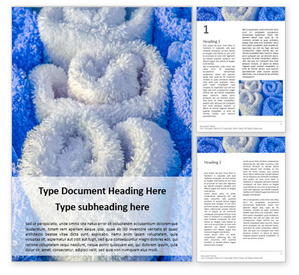 Careers/Industry: White and Blue Wool Fluffy Towels Word Template #15968