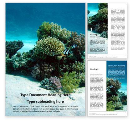 Nature & Environment: Underwater Scene Word Template #15989