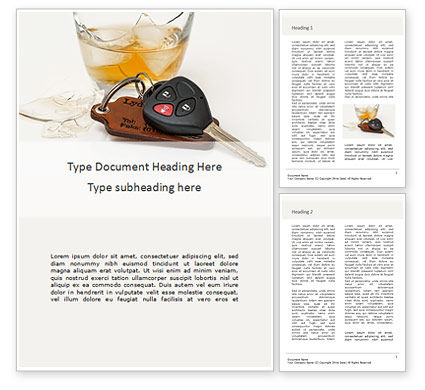 Legal: Alcoholic Drink and Car Keys on Table Word Template #15995