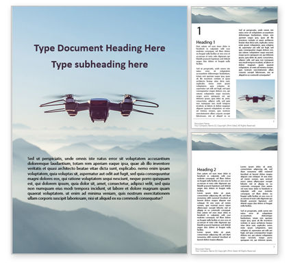 Technology, Science & Computers: Unmanned Aerial Vehicle Flying in the Sky Word Template #15997