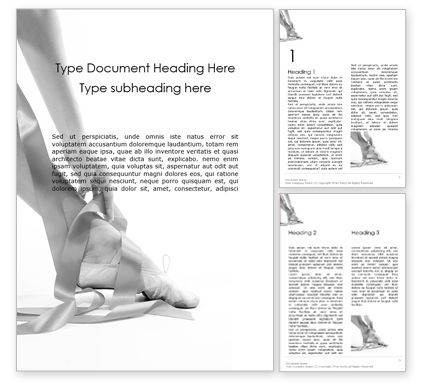 Art & Entertainment: The Grace of Ballet Word Template #16007