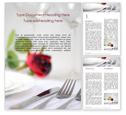 Careers/Industry: Two Fork Beside Butter Knife on the Table Word Template #16021
