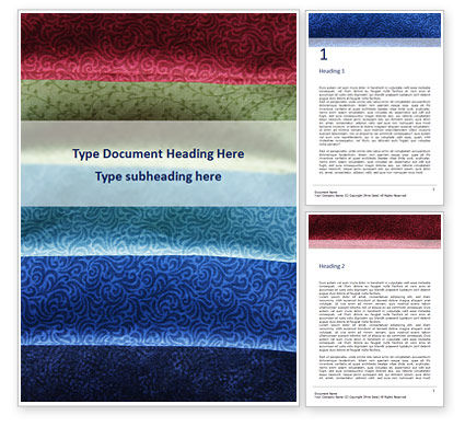 Careers/Industry: Colorful Silk Fabric Word Template #16041