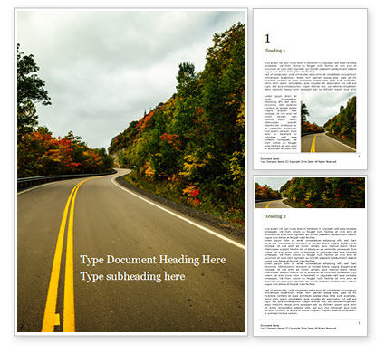 Nature & Environment: Spectacular Autumn Road Trip Word Template #16062