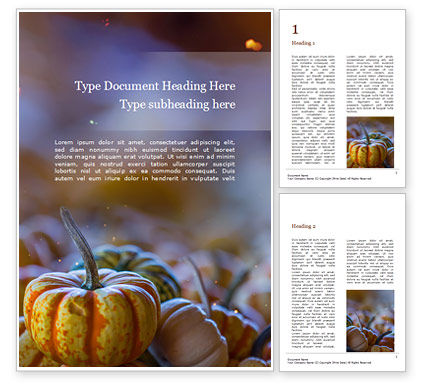 Holiday/Special Occasion: Mini Pumpkins at Farmers Market Word Template #16065
